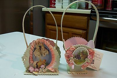 2009 Bethany Lowe by Casey Mack Small Easter Bucket Set of 2 CM6356