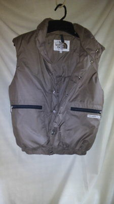 Vintage The North Face mens vest S Small Brown Poly Cotton