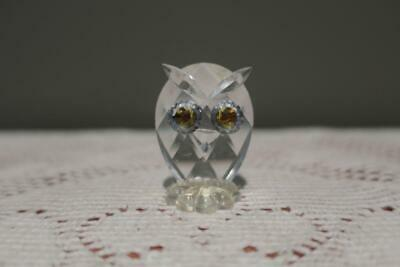 Vintage Swarovski Crystal Small Owl Figurine - 3.5cm - Collectable - Good Cond