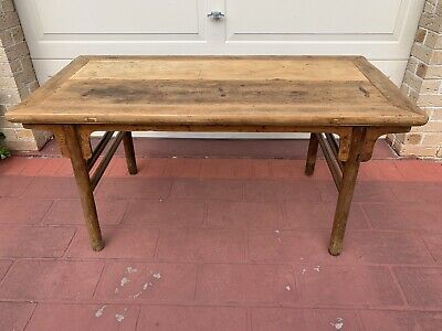 Antique Chinese Dining Table / Rustic Vintage Dining Table Wood