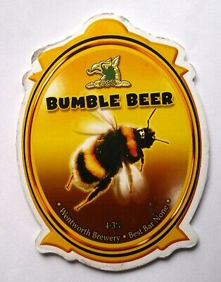 Beer Pump Clip Badge Bumble Beer Wentworth Brewery BP265