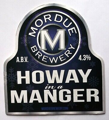 Beer Pump Clip Badge Howay in a Manger Mordue Brewery Tyne & Wear BP267