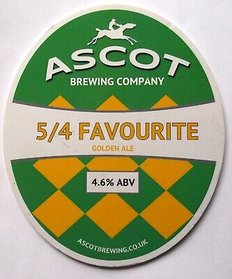 Beer Pump Clip Badge 5/4 Favourite Golden Ale Ascot Brewing Company BP332