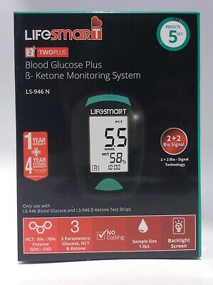 Lifesmart Blood Glucose Plus Ketone Monitoring System and Accessories.
