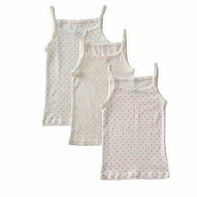3-Pack 100% combed cotton Girls' baby kids Cami Super Soft Tank tops Undershirts