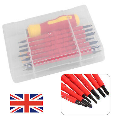 7Pcs Electricians Screwdriver Set Tool Electrical Fully Insulated  with Kit Case