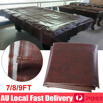 7'  8' 9' ft Foot Pool Snooker Billiard Table Cover Fitted Heavy Duty PU Leather