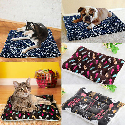 Pet Dog Cat Bed Puppy Cushion House-Soft Warm Kennel Mat Large Blanket Washable