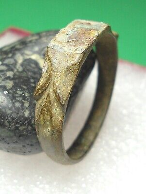 Ancient Roman Bronze Ring Original Authentic Antique Rare R650