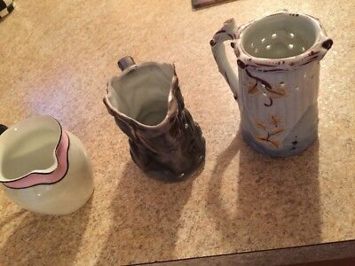 Vintage Antique ~Three Small Pitchers ~ Creamer