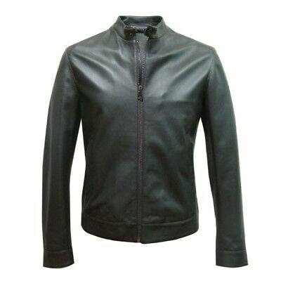 Hot Selling New Premium Soft Sheepskin Motorcycle Leather Jacket For Men MBJ152