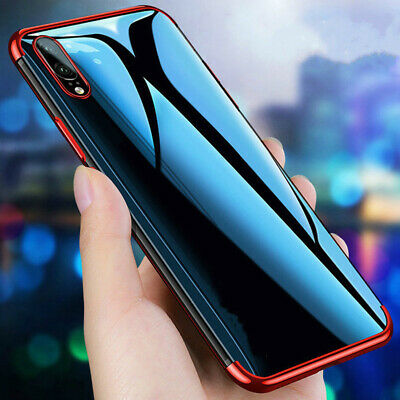 For Samsung Galaxy A70 A50 A30 A10 Silicone Soft Plating Clear TPU Case Cover