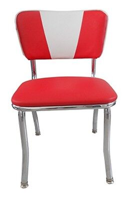 Retro Style Commercial Quality Chairs - V Back Style - New Chrome Frame