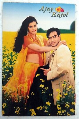 Bollywood Actor Couple Ajay Devgan Kajol Rare Old Post Card