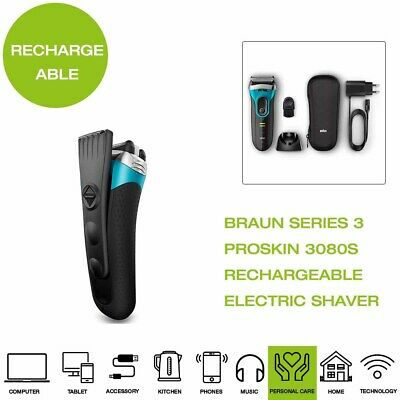 *Brand New* Braun Series 3 ProSkin 3080S Rechargeable Electric Shaver - Black