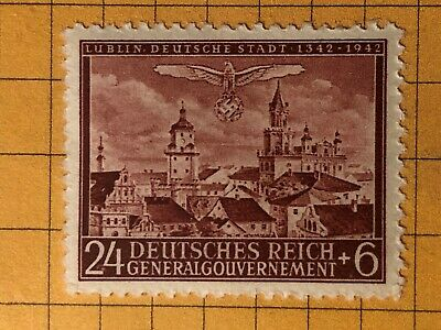 GERMANY POLAND (General Gouvernement) 1943 WWII-GERMAN OCC. 24+6 Pfg.  MNH /s9