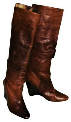 BCBG Paris Leather Rustic Boots, Form Fit Calf High or Low 5 Styles, SRP$229