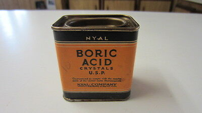 Vintage Nyal Boric Acid Crystals with Tin Container (FS)