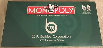 W.R. Berkley Edition Monopoly Game - New Factory Sealed