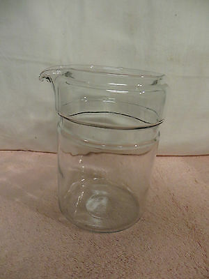 Vintage Pyrex #7826B 6-Cup Glass Flameware Stovetop Coffee Pot Carafe Only - NOS