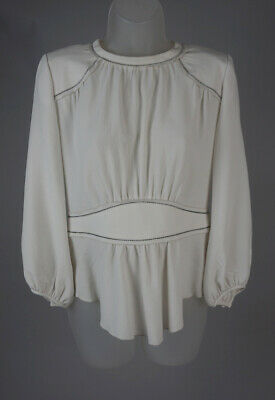a52bd91517e442 Women s Isabell Marant Off White Blouse Top Size 36 FR ...