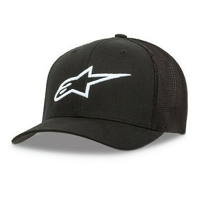 New Adult ALPINESTARS Cap Ageless Stretch Mesh Hat Black Motocross S M / L XL