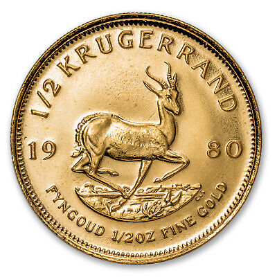 1980 South Africa 1/2 oz Gold Krugerrand BU - SKU #88135