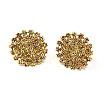 Indian Ethnic Bridal Resizable Gold Plated Big Toe Ring Pair with Intricate Gold