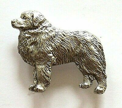 Great Pyrenees Brooch Pin Badge in Antiqued Copyrighted Pewter & Gift Box Option