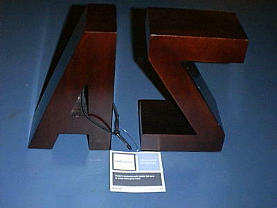 """8"""" Mahogany finished Wood ~A & Z~ Book Ends - Brand New!"""
