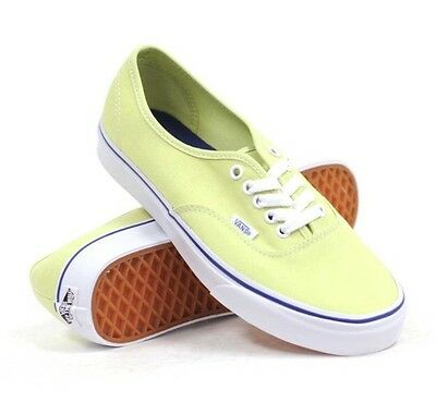 1743b66ea0 New Vans Mens 4 Womens 5.5 Authentic Shadow Lime True White Skate Shoes  Sneakers