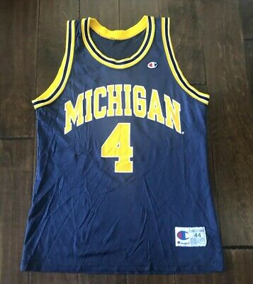 new product ec90d aa5ac VINTAGE CHAMPION CHRIS WEBBER Michigan Wolverines Jersey Fab 5 Men/Adult 44
