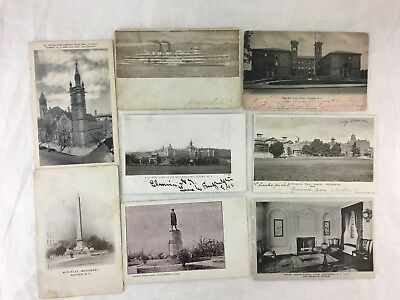 Antique Vintage Postcard New York State Albany Buffalo Brooklyn Mass Lot 8