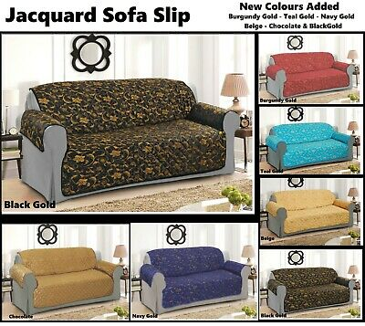 Quilted Sofa Chair Settee Pet Protector Slip Cover 1,2,& 3 Seater (New Arrival)