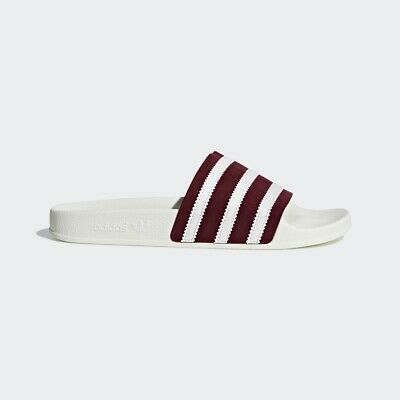 2e18ed4c19d2 Adidas Originals Adilette Burgundy White Men Slides Sandals Made in Italy  BD7574
