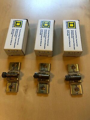 New In Box, Square D B12.8 Overload Relays Lot Of 3!