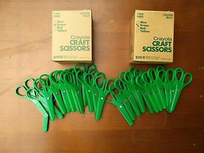 25 Vintage Crayola Craft Scissors lot