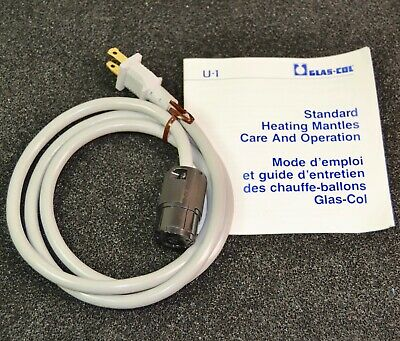 New Glas Col Replacement Power Cord U-1 for Standard Heating Mantles