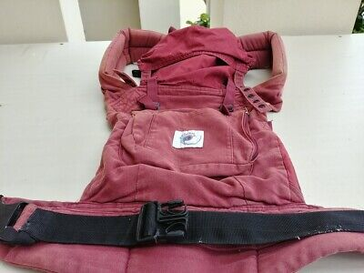5c959ec85bf Ergo Baby Original Classic Cotton Maroon Red Baby Carrier Cranberry 0-48  Months