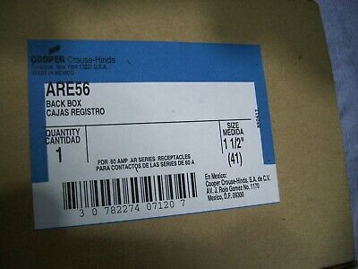 Brand New Cooper Crouse Hinds ARE56 Back Box 1 1/2""