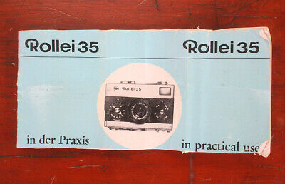 Rollei 35 Instruction Book/177726