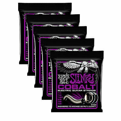 5 PACK Ernie Ball 2720 Cobalt Power Slinky Electric Guitar Strings