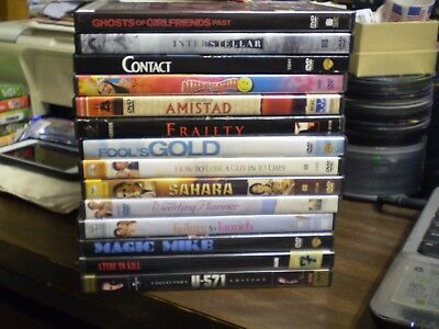 (14) Matthew McConaughey DVD Lot: Contact Interstellar Amistad Magic Mike & MORE