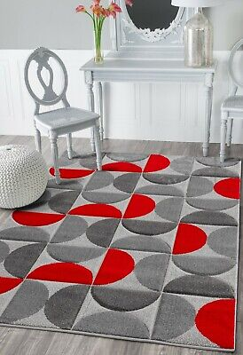 Cheap Large Small Modern Rugs Red Grey Silver Carpets Rug Mats Hall Runner Rugs