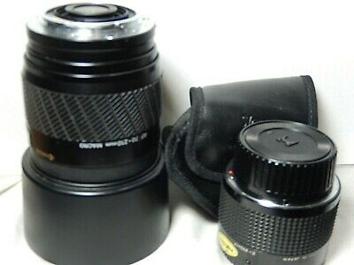 Sigma Tele-Macro 2x-1:1 lens & Yashica AF 70-210 mm Les Made in Japan