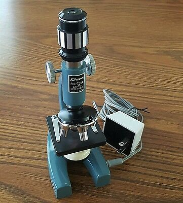 Zoom MICROSCOPE KIT 50-750 * 52 Accessories & Manual by JC Penny ~ WORKS GREAT!
