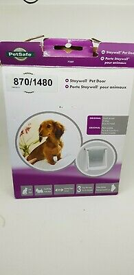 PetSafe Staywell Original 2-Way Pet Door Dog & Cat Flap Small WHITE Unused Boxed