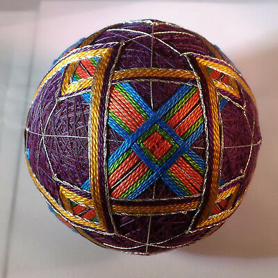 Japanese Temari Ball wrap with triangles