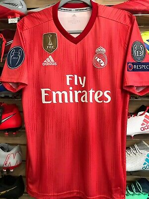 ac8c898d5 Adidas Real Madrid Parley Third Soccer Jersey ChampionsPatches Size Youth  Medium