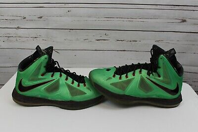 outlet store 809da e18bb Nike Air Lebron 10 X Cutting Jade Men s 12 Shoes Green Red Flywire 541100- 303